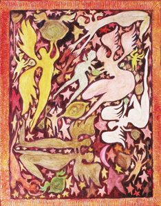 "Image of painting by Richard Callner named ""Lovers: Birth of Lilith"" (1964)"